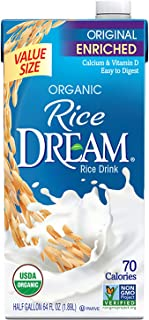 Dream Blends Rice Dream Organic Rice Drink, Enriched Original, 64 Oz (Pack of 8)
