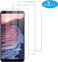 RIIMUHIR Pack De 3 Protectores De Pantalla De Vidrio Templado para Samsung Galaxy A9 2018, Película Transparente HD, Anti Huella Digital, Alta Definición, Sensibilidad Táctil