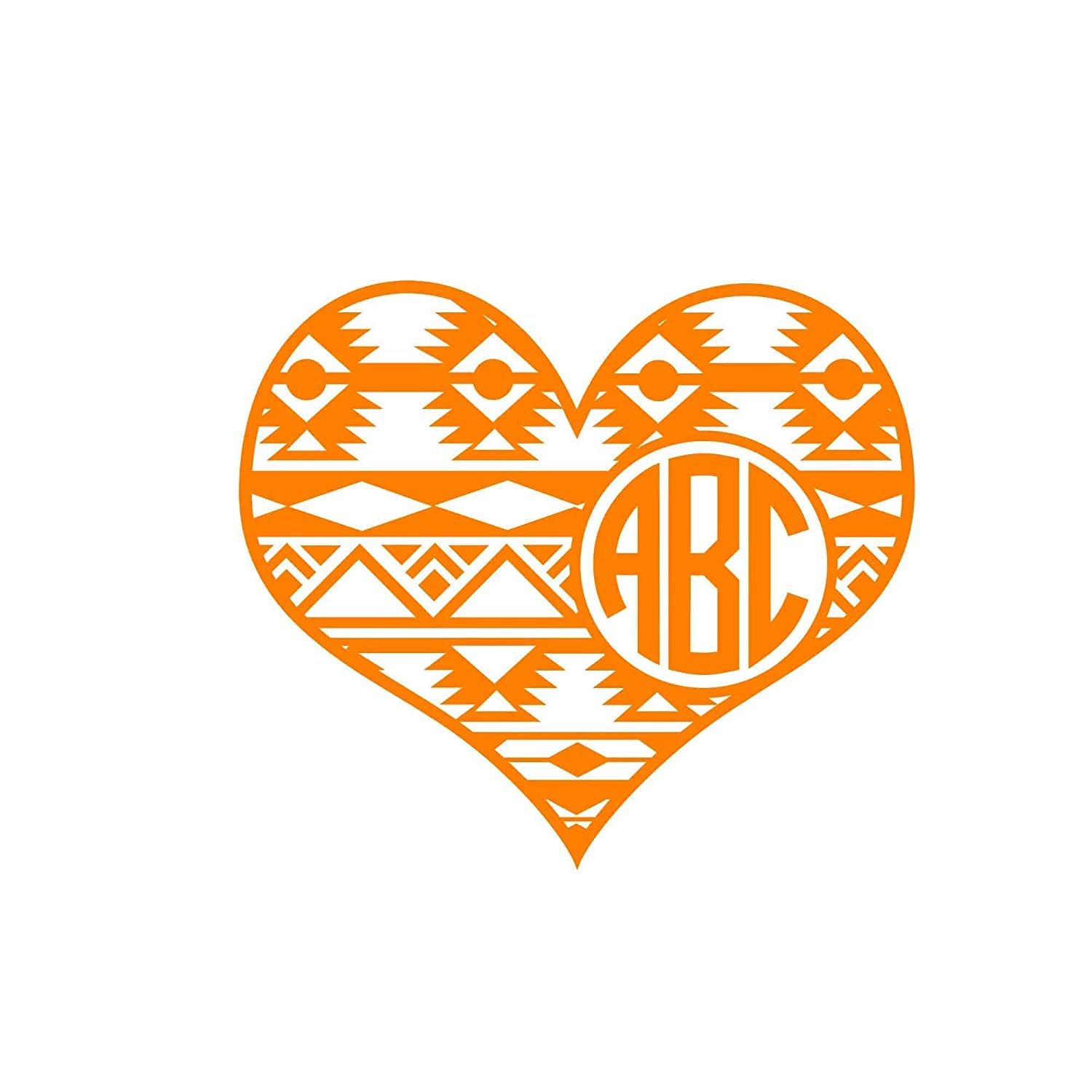 Personalized Monogram Heart Decal Initials Sticker Sales Monogrammed New York Mall