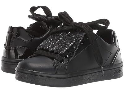 Geox Kids Jr Djrock 34 (Little Kid) (Black Oxford) Girls Shoes
