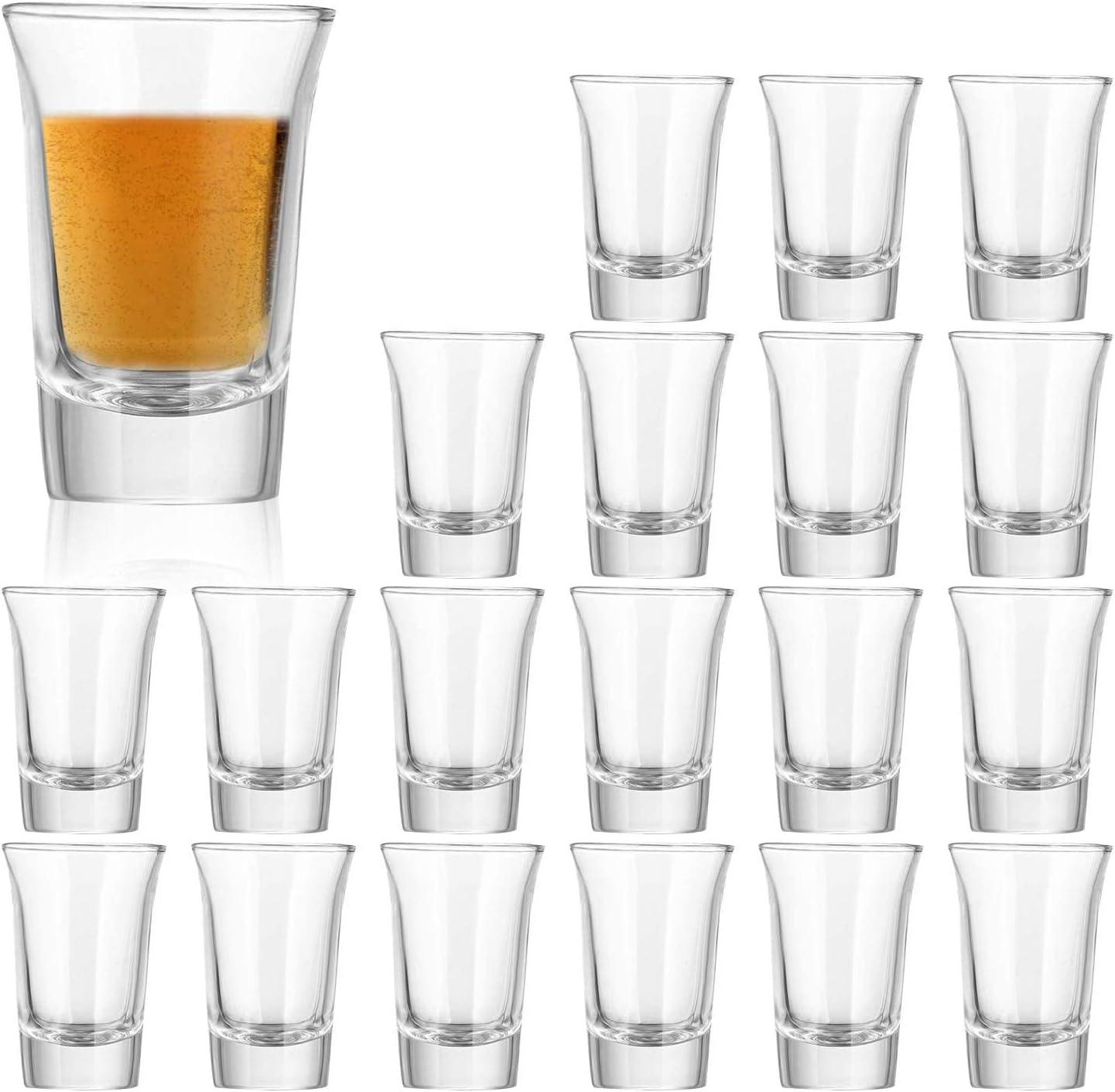 Max 43% OFF 1.2 Ounce Heavy Base Shot Glass Glasses Detroit Mall Whisky 1 Set QAPPDA