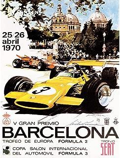 Wee Blue Coo Sport Advert Motor Race Barcelona Spain Formula Gran Premio Unframed Wall Art Print Poster Home Decor Premium