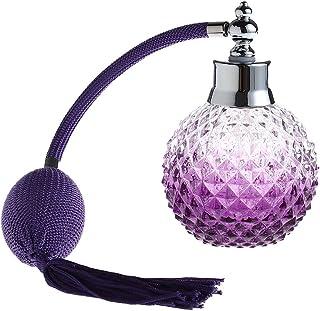 Pixnor 100ml Perfume Bottles with Atomizer Crystal Vintage Refillable Atomizer Purple