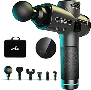 Massage Gun, ANFLAG Deep Tissue Massage Gun for Athletes, Percussion Muscle Massager with 9 Massage Heads, 3200 PRM Brushless Motor, 30 Speed Levels