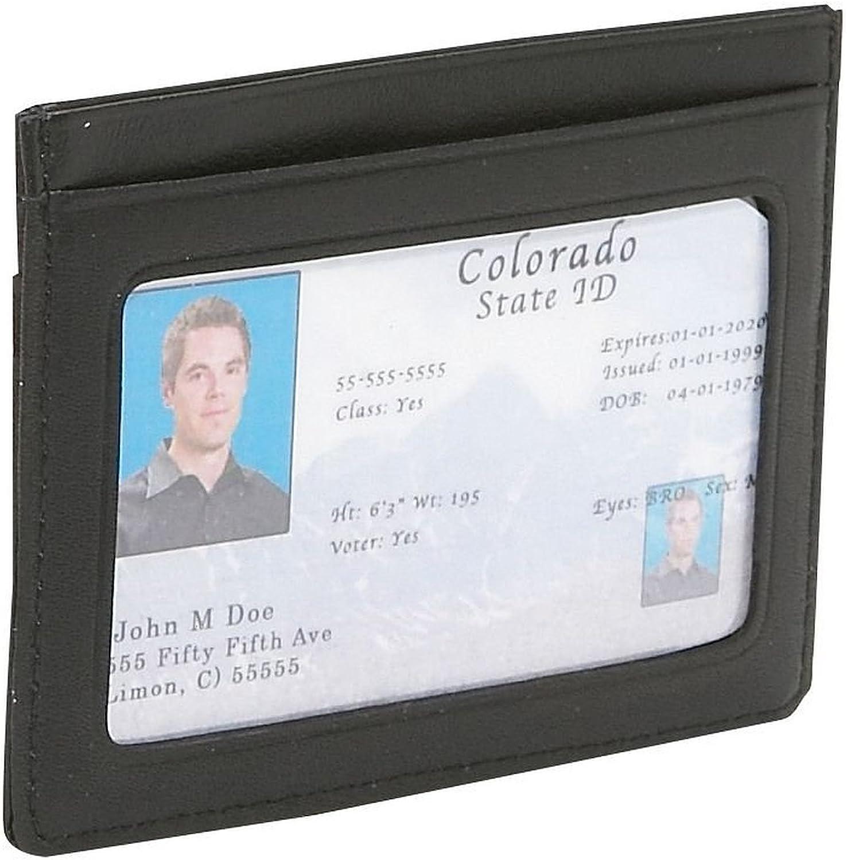 Genuine Leather Slim Credit Card ID Wallet