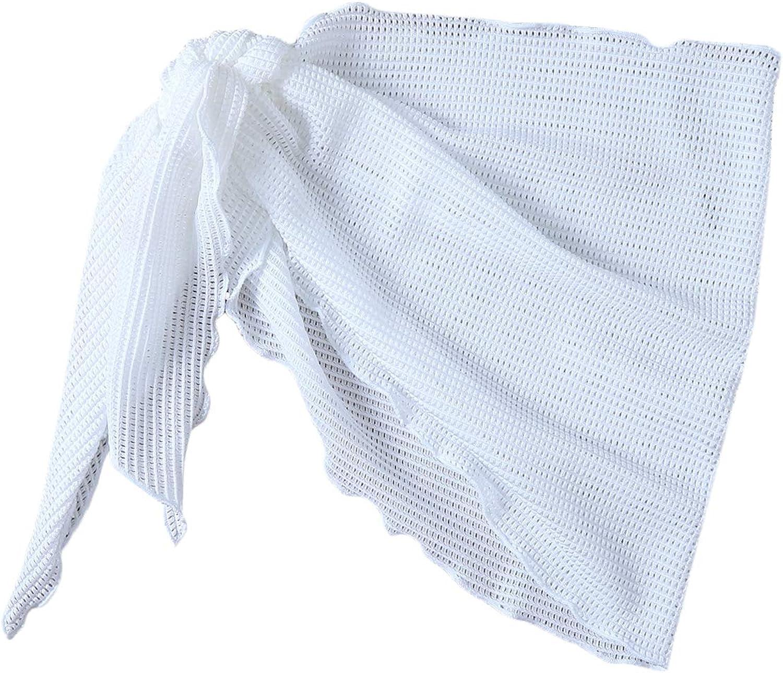 SOLY HUX Women's Self Tie Wrap Side Tassel Hem Swimwear Cover Up Mini Skirt