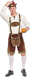 Men's German Bavarian Oktoberfest Costume Set for Halloween Dress Up Party and Beer Festival