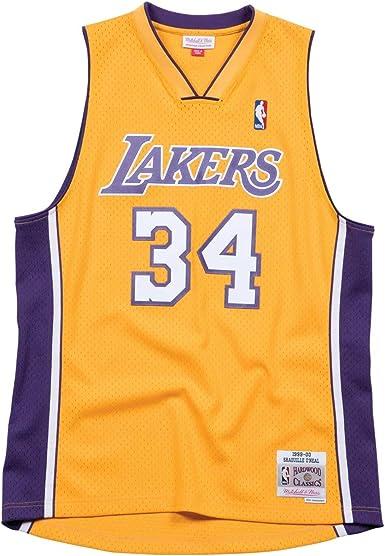 Shaquille O'Neal Los Angeles Lakers Home 1999-00 Men's Hardwood Classics Swingman Jersey