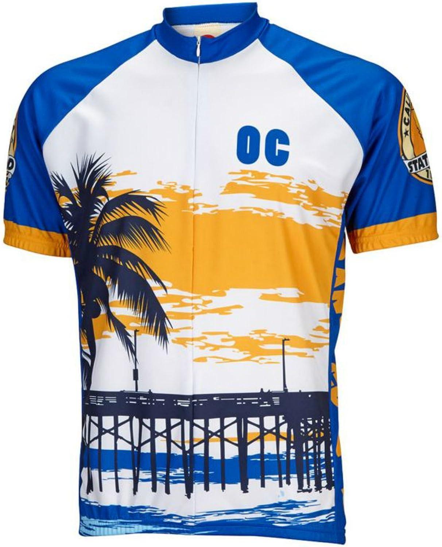 World Jerseys Men's orange County Cycling Jersey