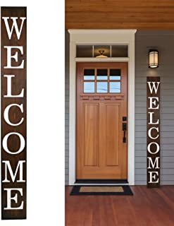 Tall Outdoor Welcome Sign for Front Porch, Vertical Welcome Sign For Front Porch 5 ft..