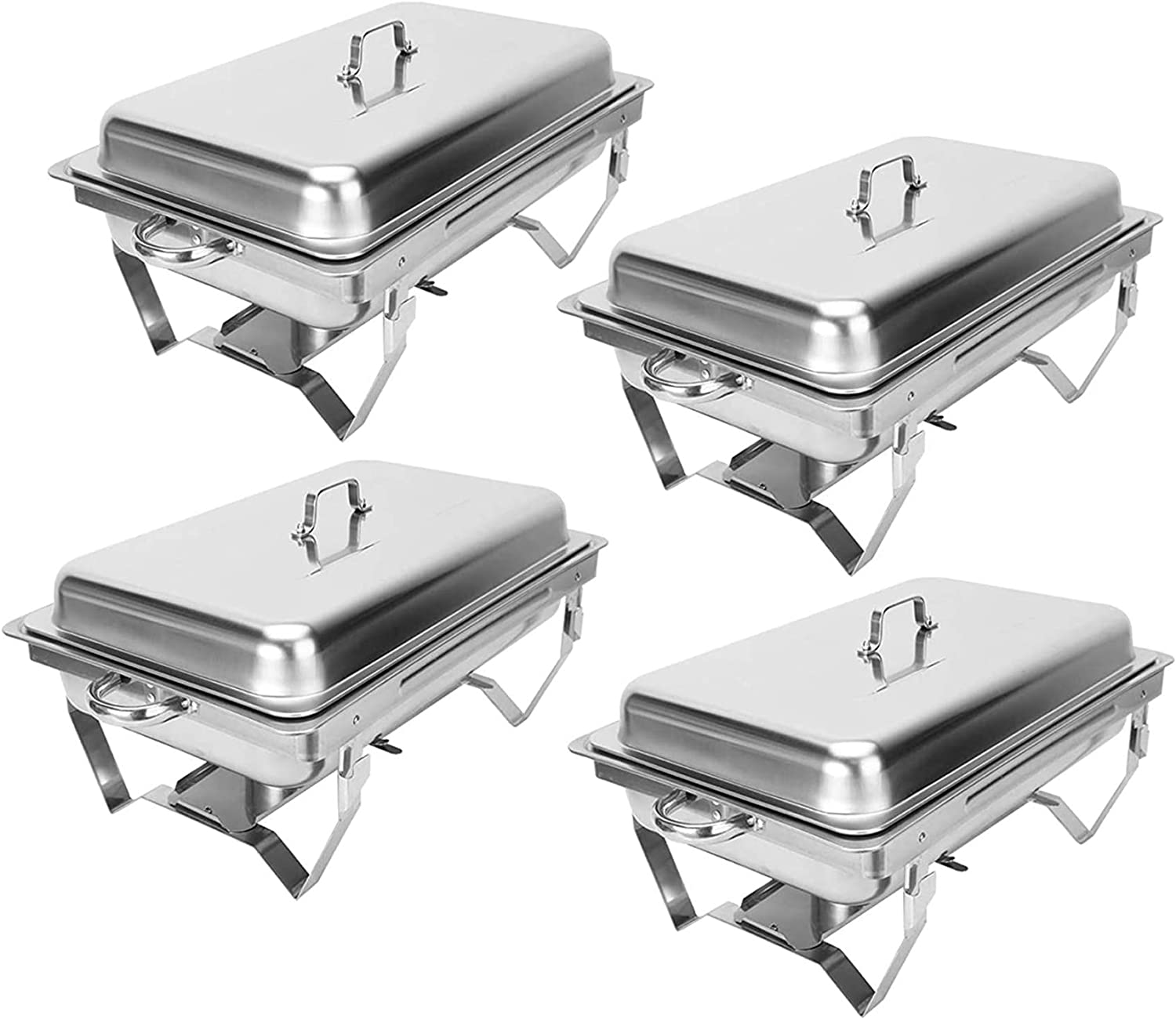 CO-Z 4 Pack Chafer Popular Chafing Dish Stainless Max 73% OFF High-Grade 8Q Set S 9L