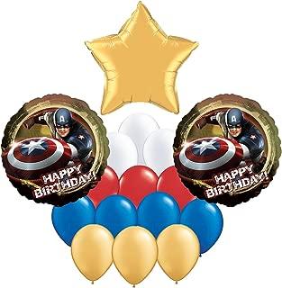 Captain America Happy Birthday Bouquet Balloon 16 pc