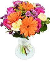 The Spring Fling Bouquet by Arabella Bouquets with a Free Designer Glass Vase