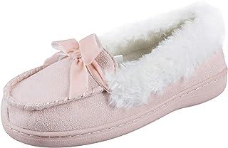 Jessica Simpson Unisex-Child Microsuede Moccasin Indoor Outdoor Slipper Shoe