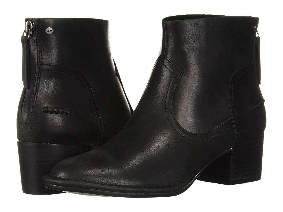 UGG Bandara Ankle Boot (Black Leather) Women