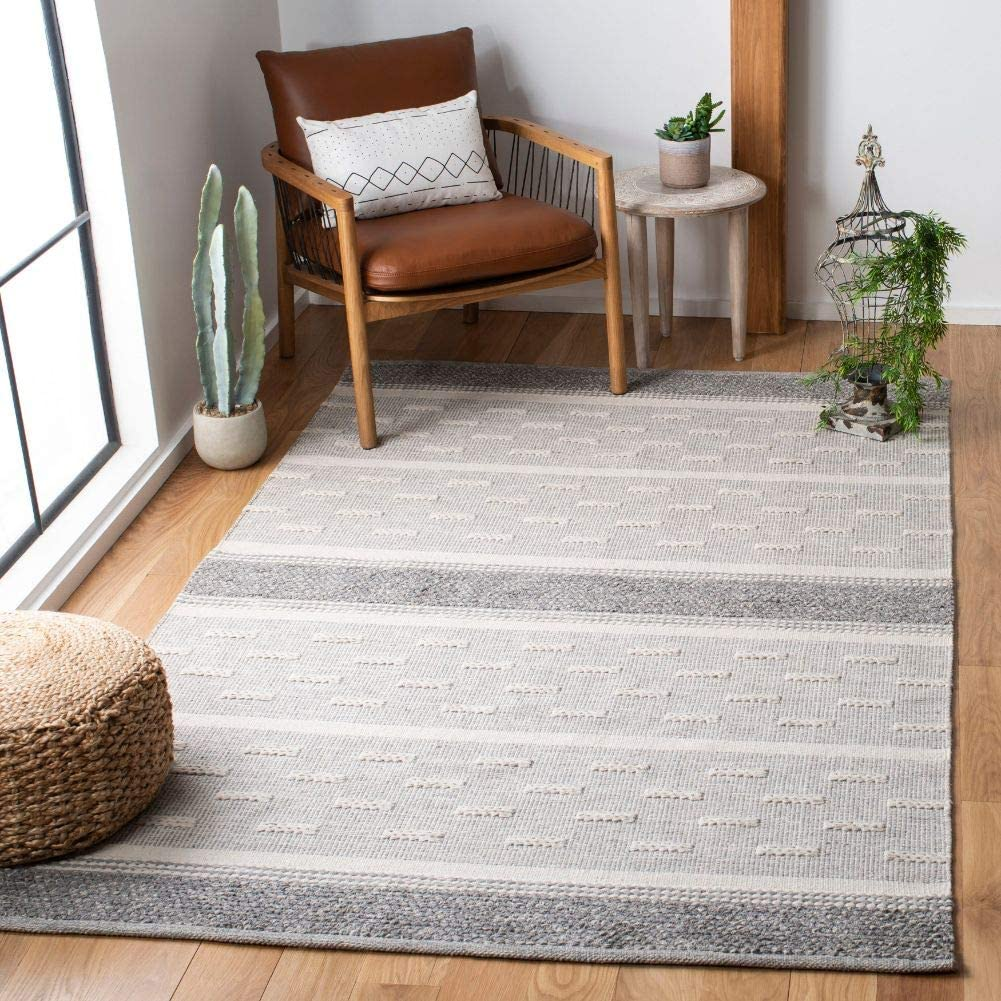 Safavieh Striped Kilim Collection Handmade STK519A Cot Max 80% OFF Flatweave Direct sale of manufacturer