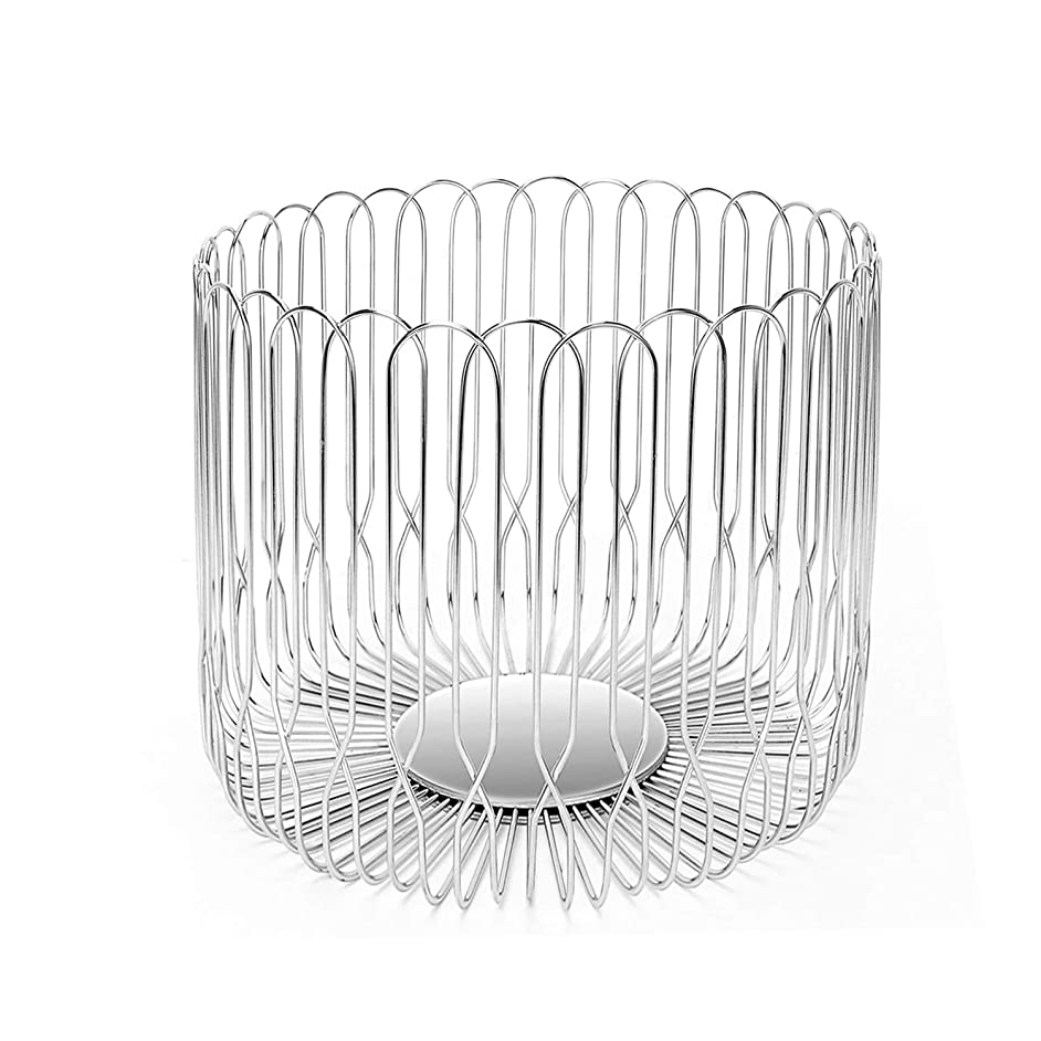 Fruit Basket Bowl Stainless Steel Large Wire Fruit Storage Basket with Bread for kitchen Counter LANEJOY
