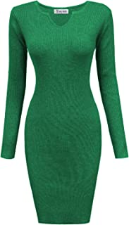 TAM WARE Womens Casual Fitted Package Hip Sweater Mini Dress