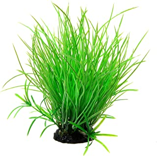 Saim Artificial Plastic Plant Decoration Long Leaf Grass Fish Tank Decor Aquarium Plants Ornament Green 1-Piece