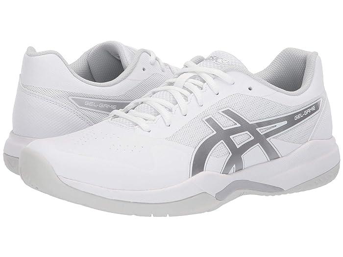 ASICS  Gel-Game 7 (White/Silver) Mens Tennis Shoes