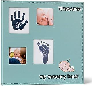 TESMAINS DIY Baby Family Memory Book Scrapbook Photo Albums-12x12 Inch(Green)