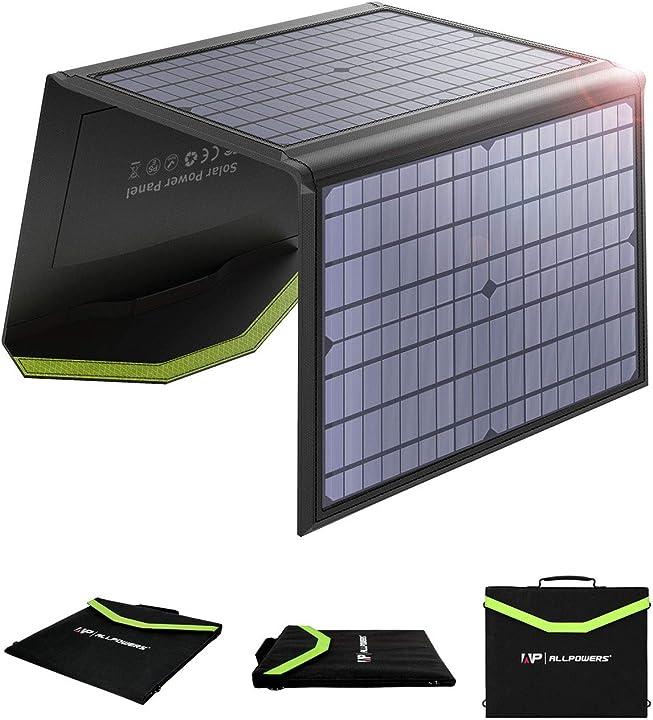 Caricatore solare 60w caricabatterie solare portatile pieghevole allpowers BLX-AP-SP-020-BLA