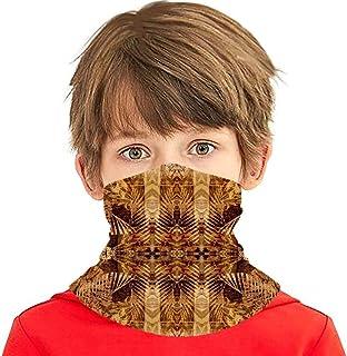 Arte Monocromo Marrón Adornos Tradicionales Patrón Vintage Pañuelo Facial Cubierta Niños Cubierta Facial Variedad Cuello D...