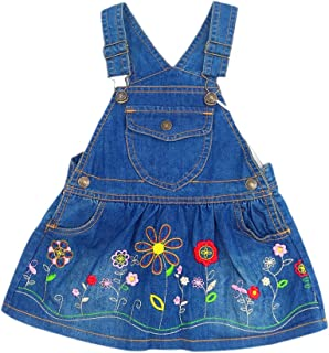Mousmile Toddler Baby Boys Girls Denim Bib Pants Suspender One Piece Overall Jumpsuit Outfit Kids Clothes 1-3Y