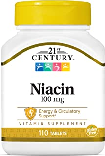 فيتامين 21 سنشري، نياسين، 100 ملغم، 110 قرص