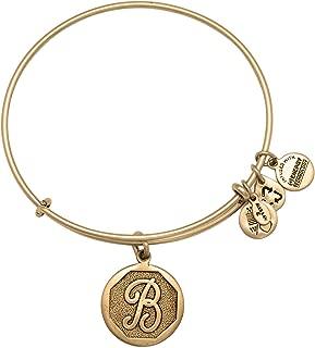 Alex and Ani A13EB14BG Initial B Charm Bangle Bracelet