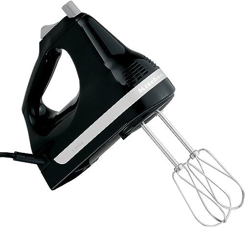 discount KitchenAid RRKHM5OB 5-Speed Ultra Power Hand Mixer, Onyx outlet online sale 2021 Black (Renewed) outlet sale