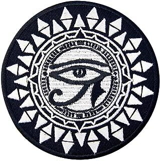 ホルスと太陽の目刺繍入りアイロン貼り付け/縫い付けワッペン