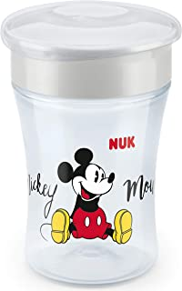 NUK Magic Cup Disney Sippy Cup, 8+ Months, 360 Degree Anti-Spill rim, Bpa-Free, 230 ml, Mickey Mouse, with Lid