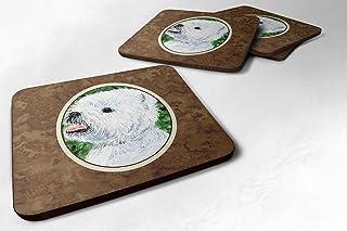 "Caroline's Treasures SS8802FC Westie Foam Coasters (Set of 4), 3.5"" H x 3.5"" W, Multicolor"