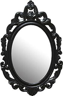 Stratton Home Decor SHD0059 Baroque Mirror, Black, 15.25 W X 0.50 W X 23.25 H