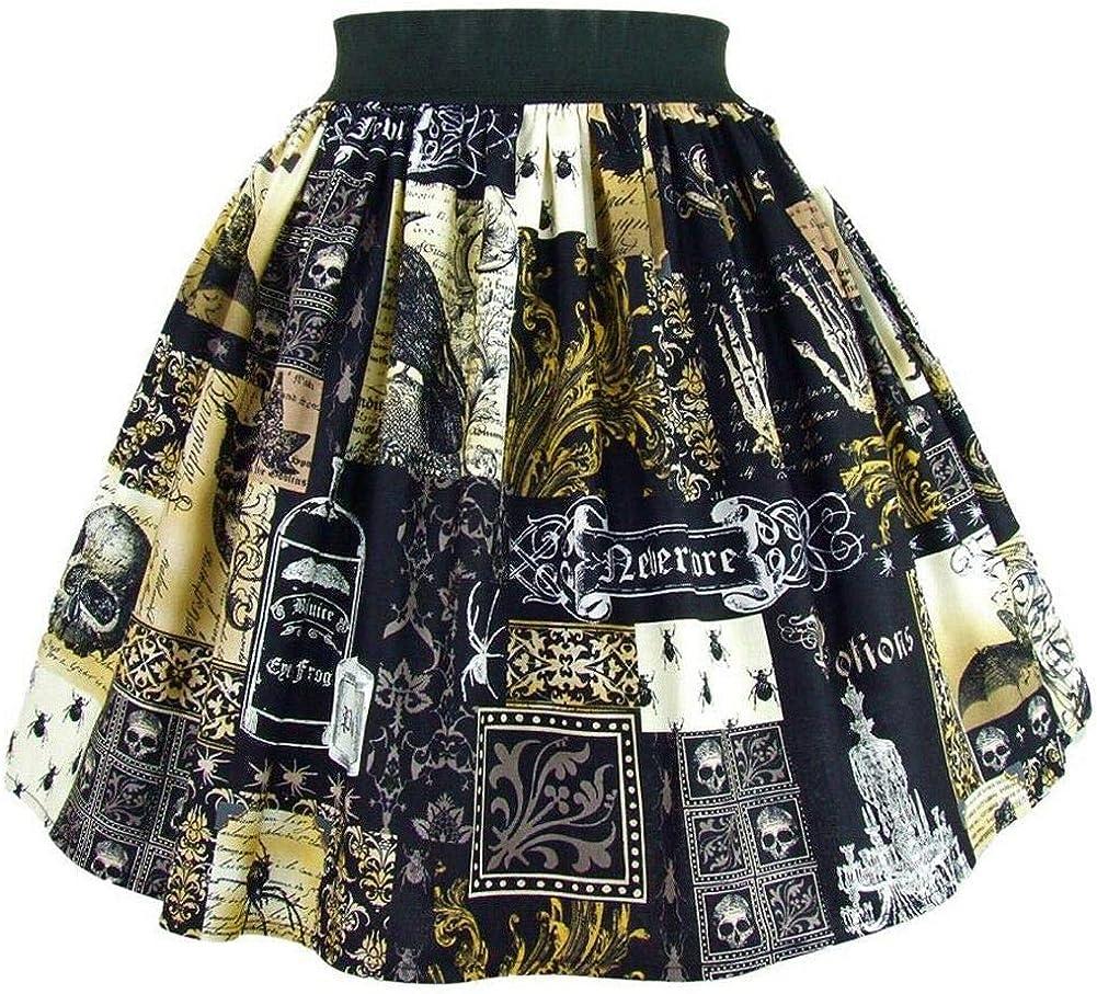 Hemet Women's Edgar Allen Poe Inspired Skirt