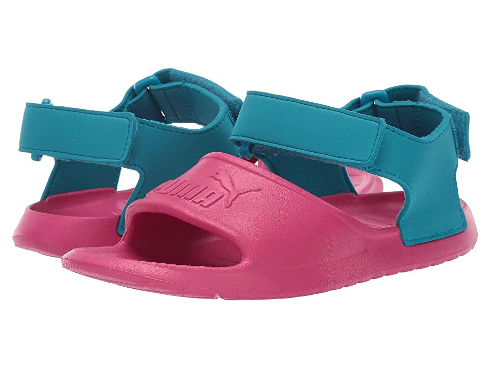 Puma Kids Divecat Injex (Little Kid) (Fuchsia Purple/Caribbean Sea) Kid