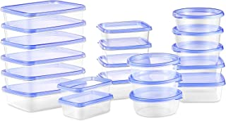 Deik Food Storage Containers, BPA-Free Plastic Lunch Containers 20 Pieces, Safe for Dishwasher, Freezer, Microwave, FDA Approved