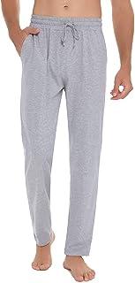 Hawiton Mens Cotton Pajama Bottoms Lounge Pants Comfy Pj Bottoms Sleepwear Lightweight Sleep Pant Nightwear with Pockets