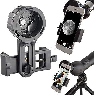Adaptador de Móvil Pro para Prismáticos Monoculares Telescopios Terrestres Telescopios Astronómicos Microscopios. Compatibles con Cualquier Smartphone. Ideal para Capturar Tus Aventuras.
