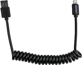 StarTech.com USBCLT60CMB - Cable en Espiral (60 cm, 8 Pines a USB A 2.0 para Apple iPod, Apple iPhone y Apple iPad 5) Negro
