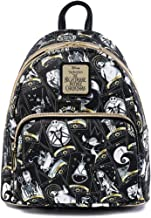 Loungefly Disney Nightmare Before Christmas Tarot Card AOP Womens Double Strap Shoulder Bag Purse