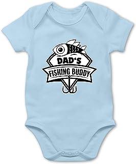 """Shirtracer Sport Baby - Dad""""s Fishing Buddy - Baby Body Kurzarm für Jungen und Mädchen"""