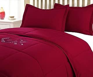 Stayclean Water & Stain Resistant Comforter Mini Sett, King, Red