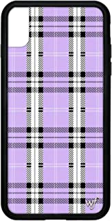 Wildflower Limited Edition iPhone Case for iPhone Xs Max (Lavender Plaid)