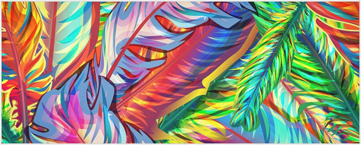 Women's Shipping New York Mall included Warm Scarf Bright Multicolor Large Feathers Extra Thick