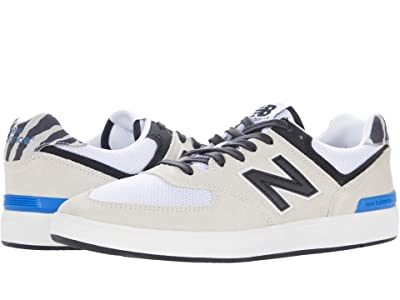 New Balance Numeric AM574 (White/Zebra) Skate Shoes