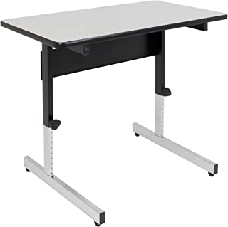 Calico Designs Adapta Height Adjustable Office Desk, All-Purpose Utility Table, Sit to Stand up Desk Home Computer Desk, 23