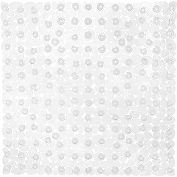 Farbe w/ählbar Tranparent klar Duscheinlage Wanneneinlage mit Saugn/äpfen in Steinoptik transparent Antirutsch 52x54