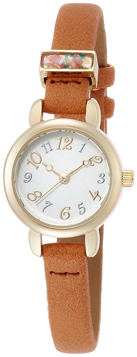 シマウマ読者メロディアス[フィールドワーク] 腕時計 アナログ イシュター 革ベルト QKS132-3 レディース ブラウン